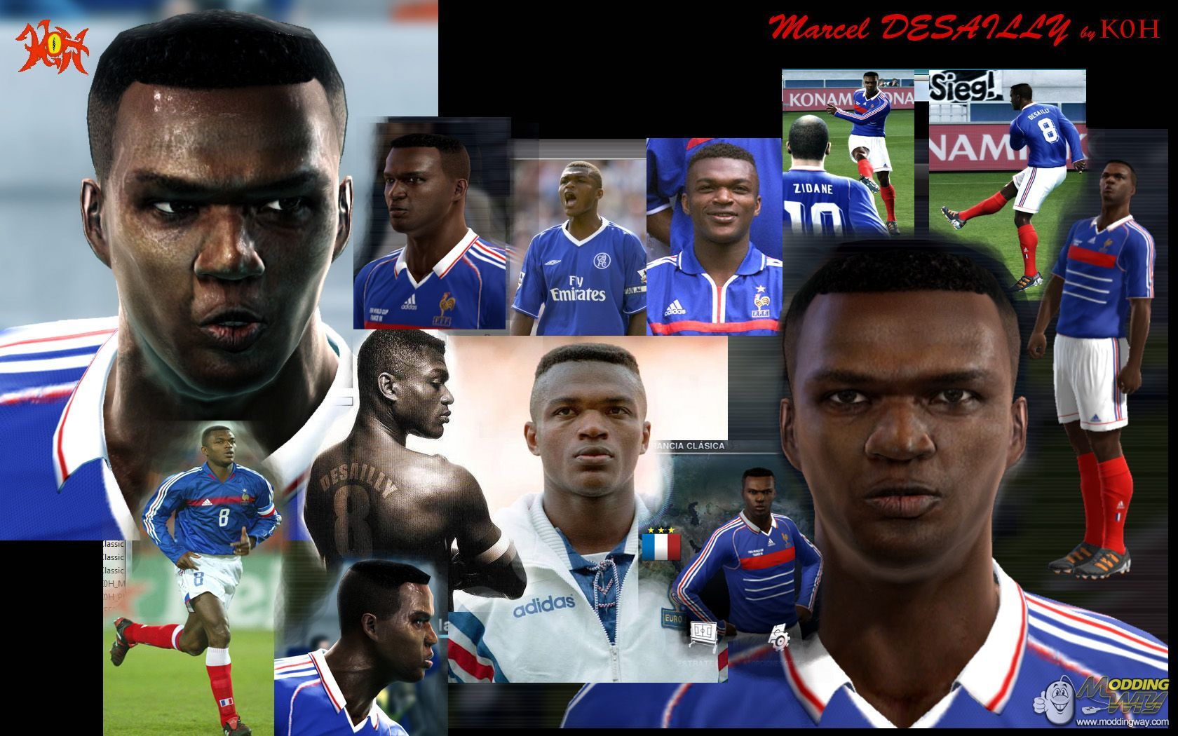 Marcel Desailly Face Pro Evolution Soccer 2012