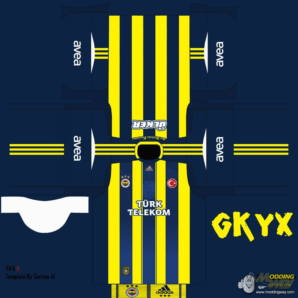 Fenerbahe 2012/13 home kit by gkyx - FIFA 12 Soccer Physics