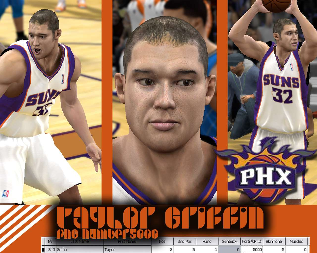 Taylor Griffin Cyber Face - NBA 2K10