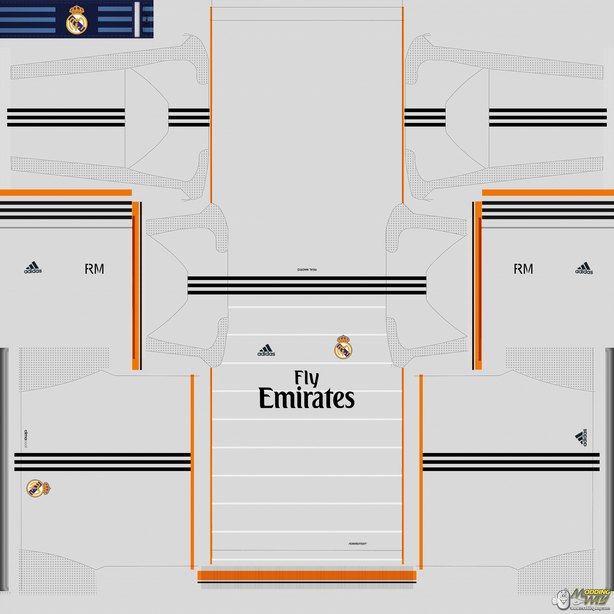 Real Madrid UCL Kits Pack - Pro Evolution Soccer 2014 Soccer Physics