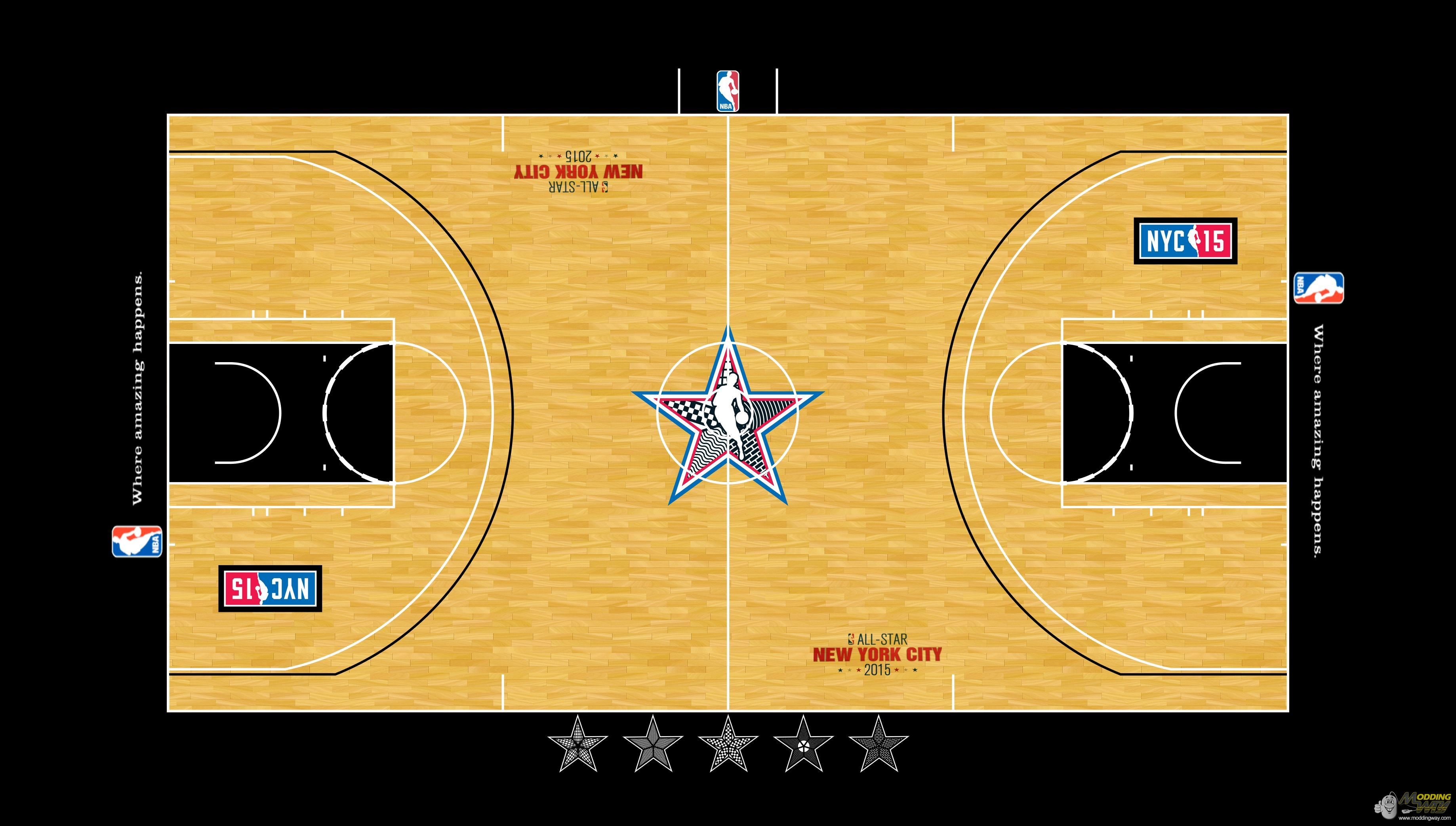 Nba basketball basketball scores for How big is a basketball court