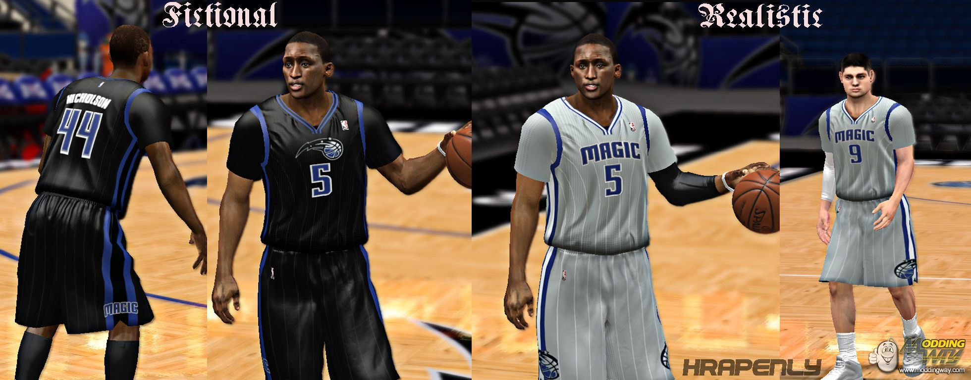 af37e4b51 Orlando Magic Jersey Update Orlando Magic Realistic Fictional sleeve jersey  - NBA 2K14 at ModdingWay ...